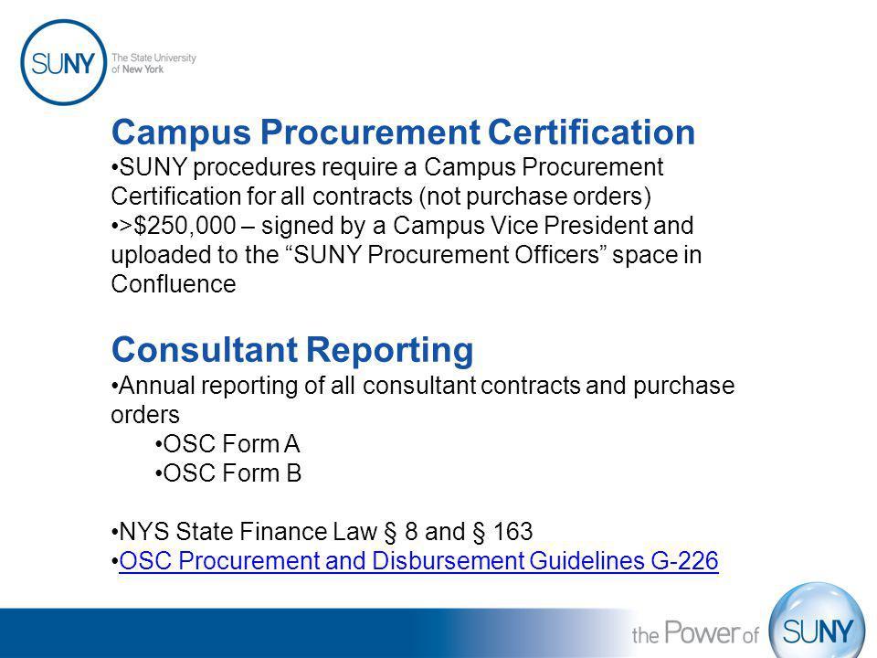 Campus Procurement Certification