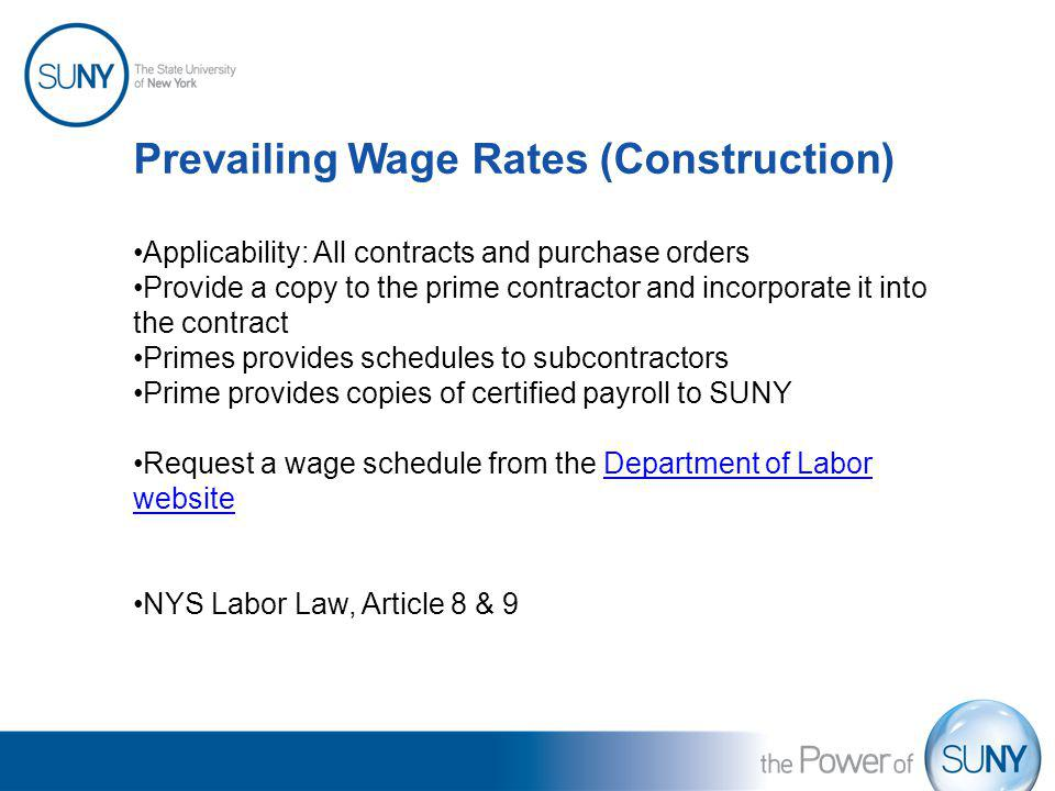 Prevailing Wage Rates (Construction)