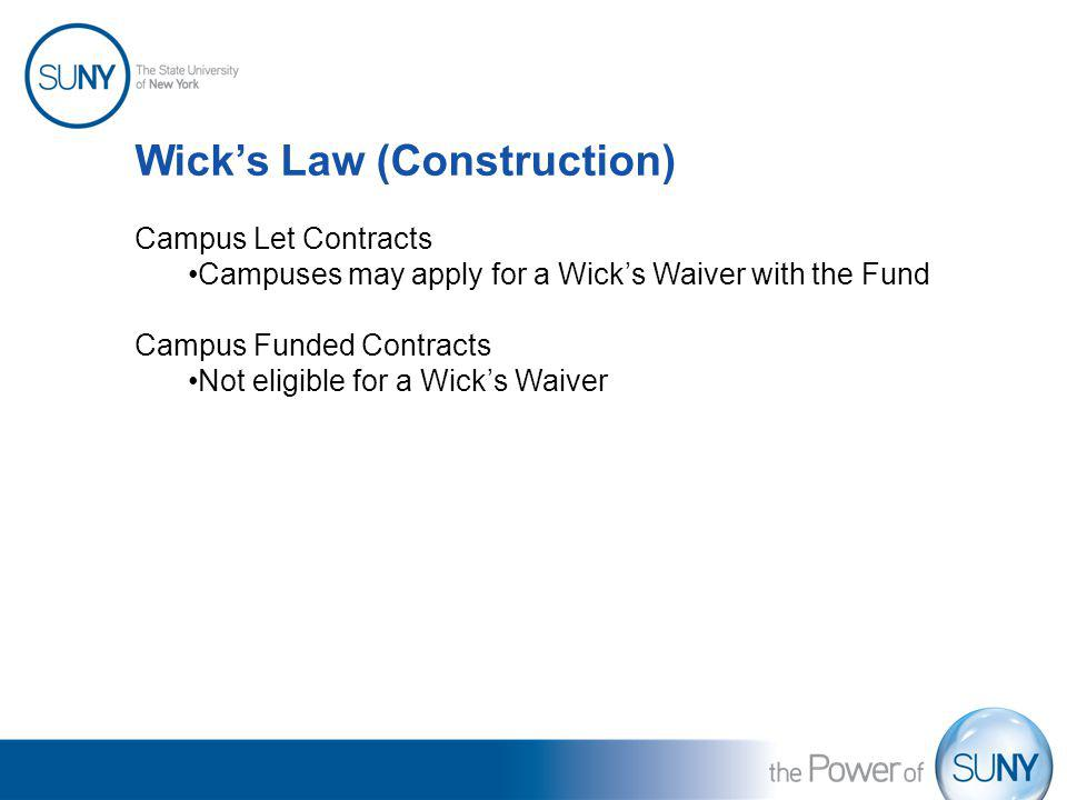 Wick's Law (Construction)