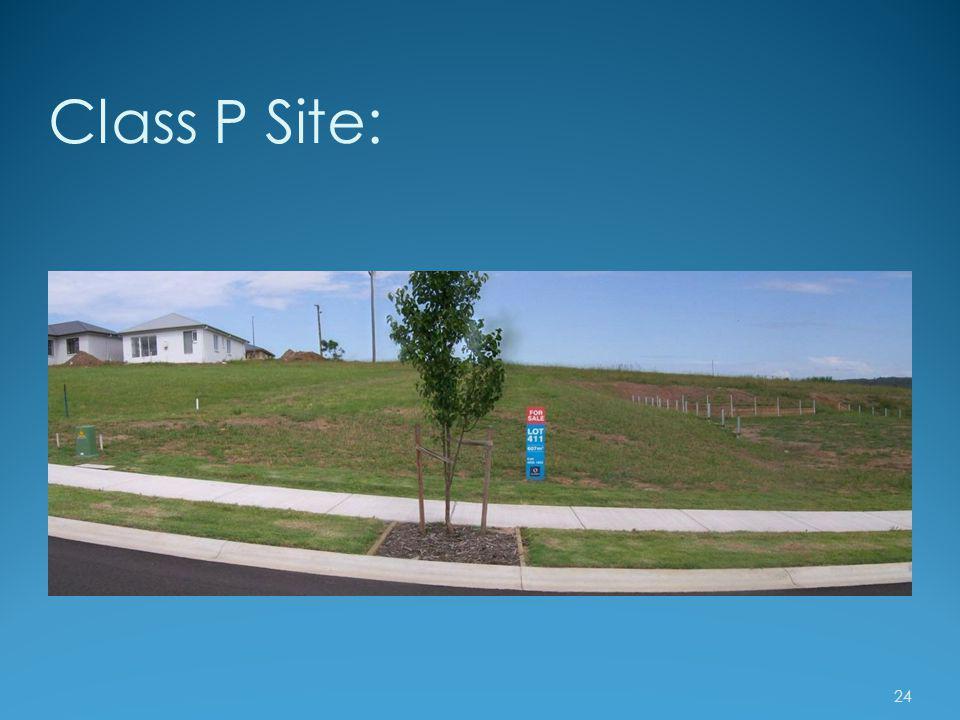 Class P Site: