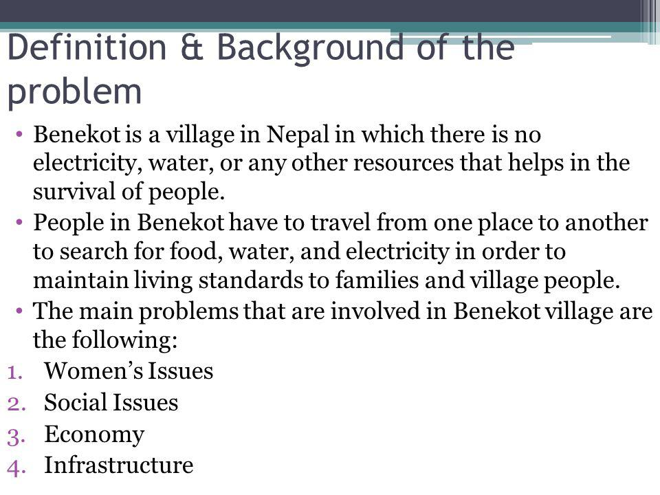 Definition & Background of the problem