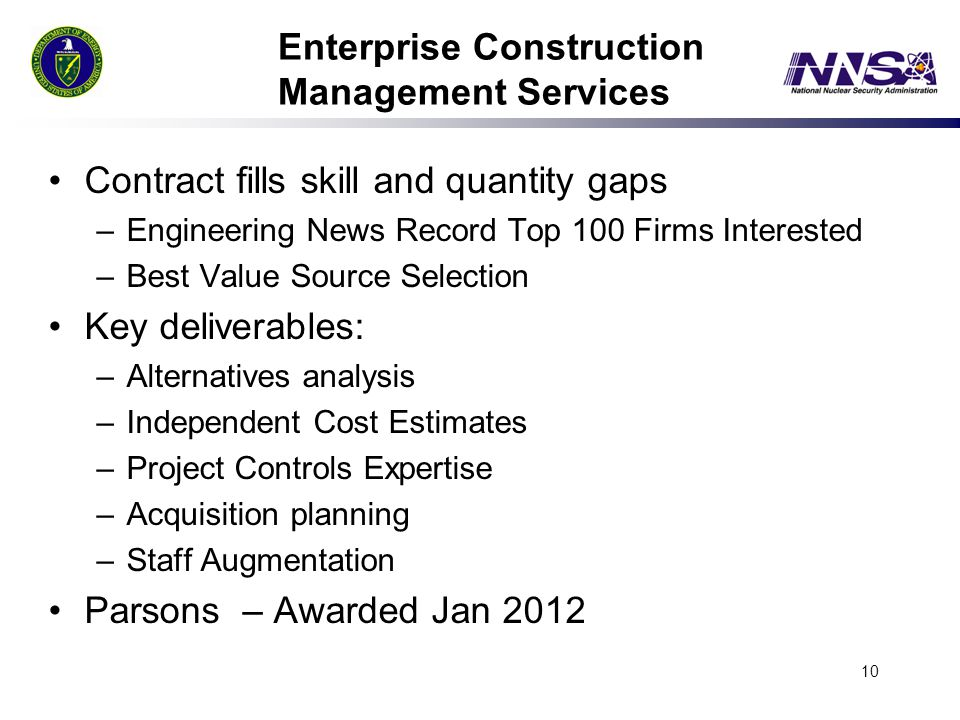 Enterprise Construction Management Services