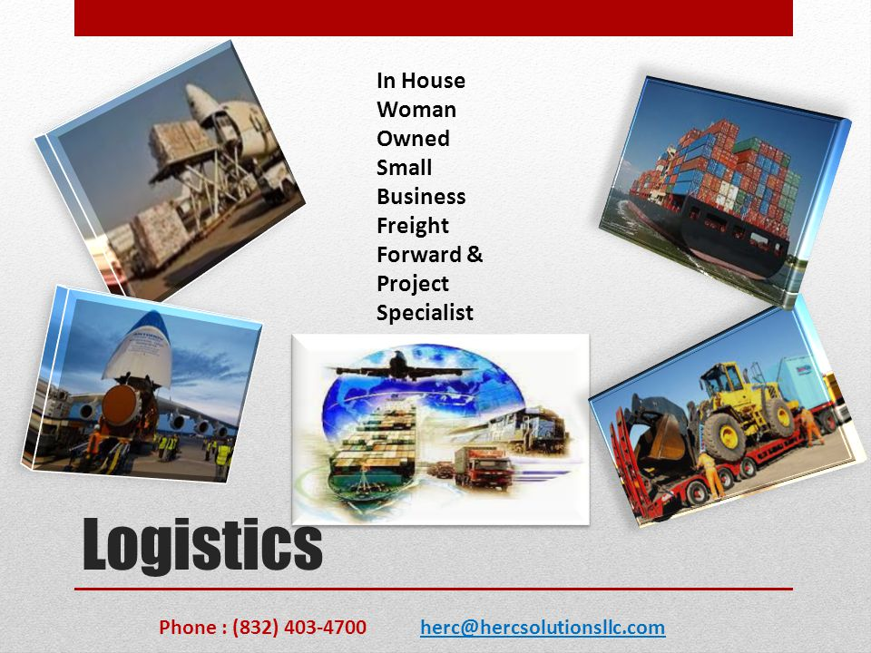Logistics In House Woman Owned Small Business