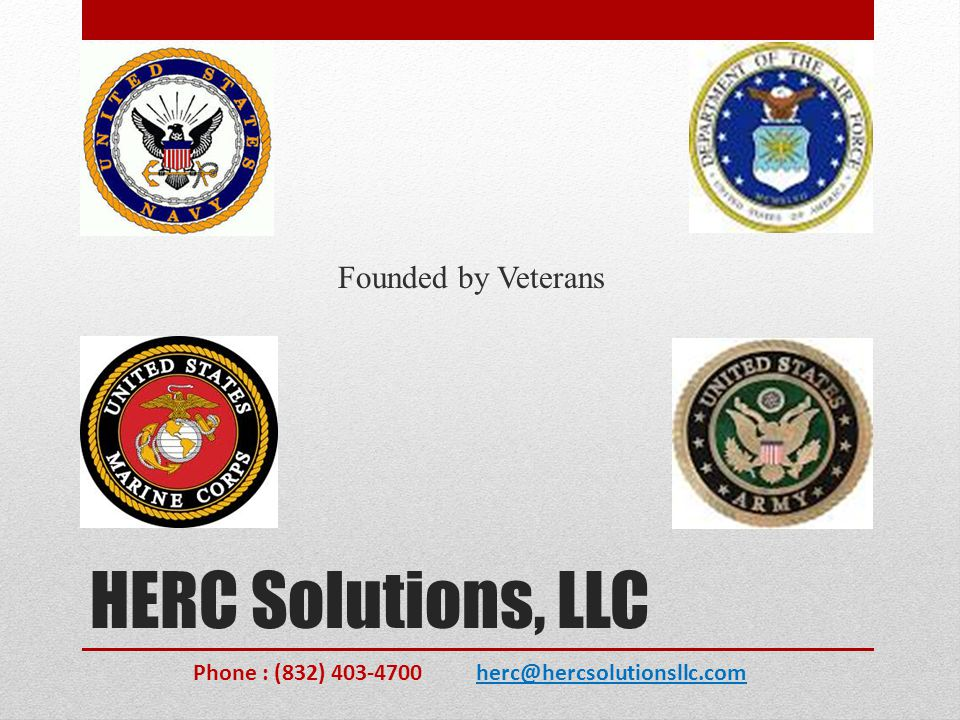 HERC Solutions, LLC Founded by Veterans
