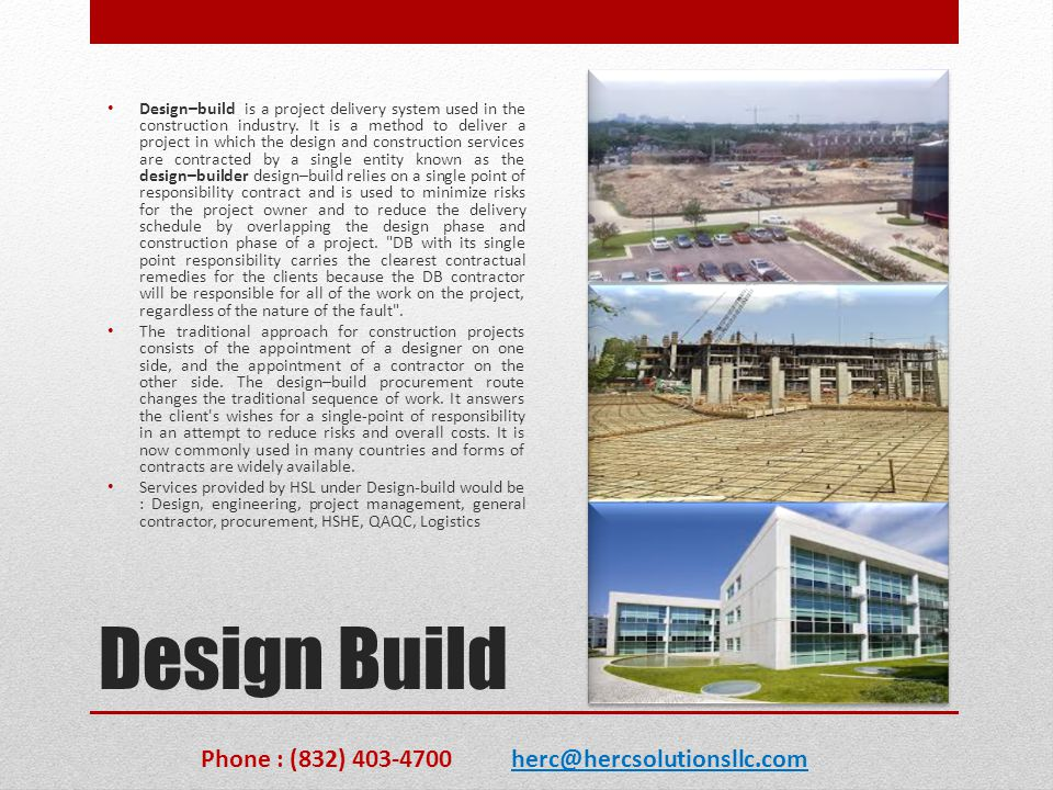 Design Build Phone : (832) 403-4700 herc@hercsolutionsllc.com