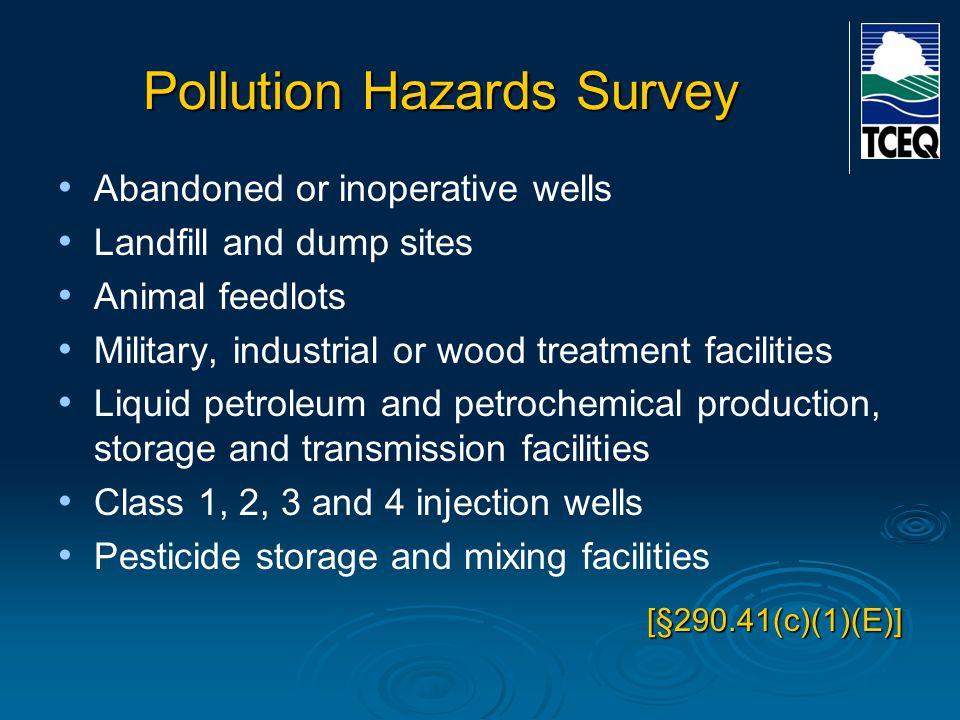 Pollution Hazards Survey
