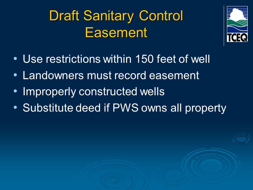 Draft Sanitary Control Easement