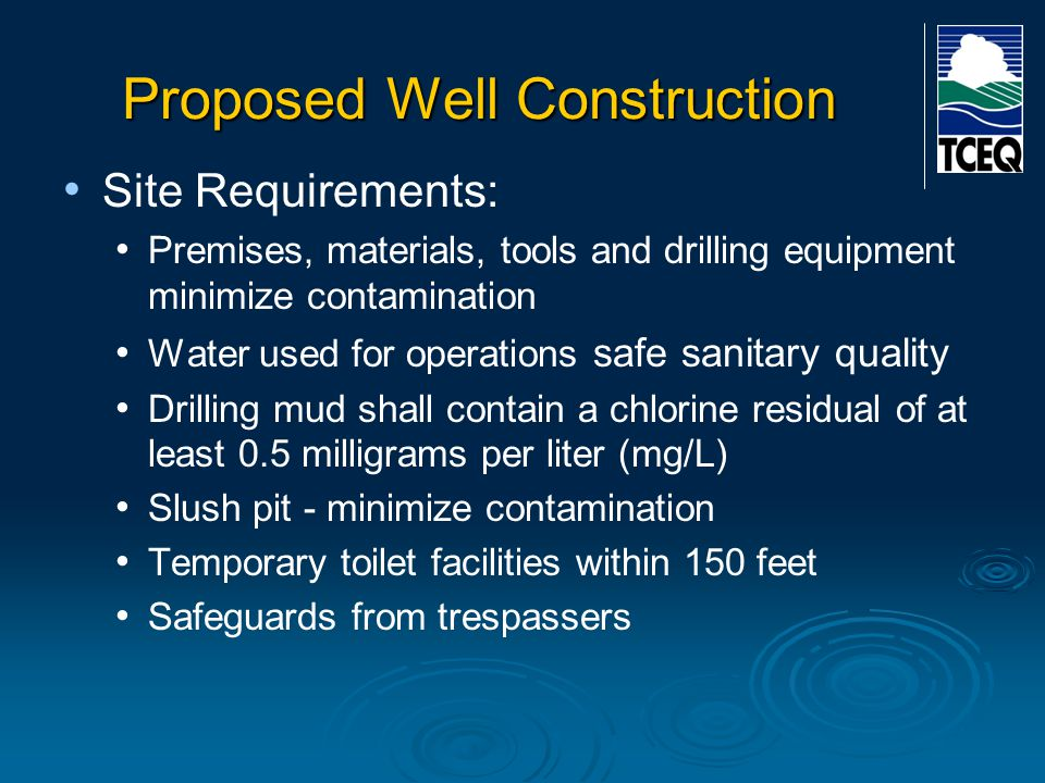 Proposed Well Construction