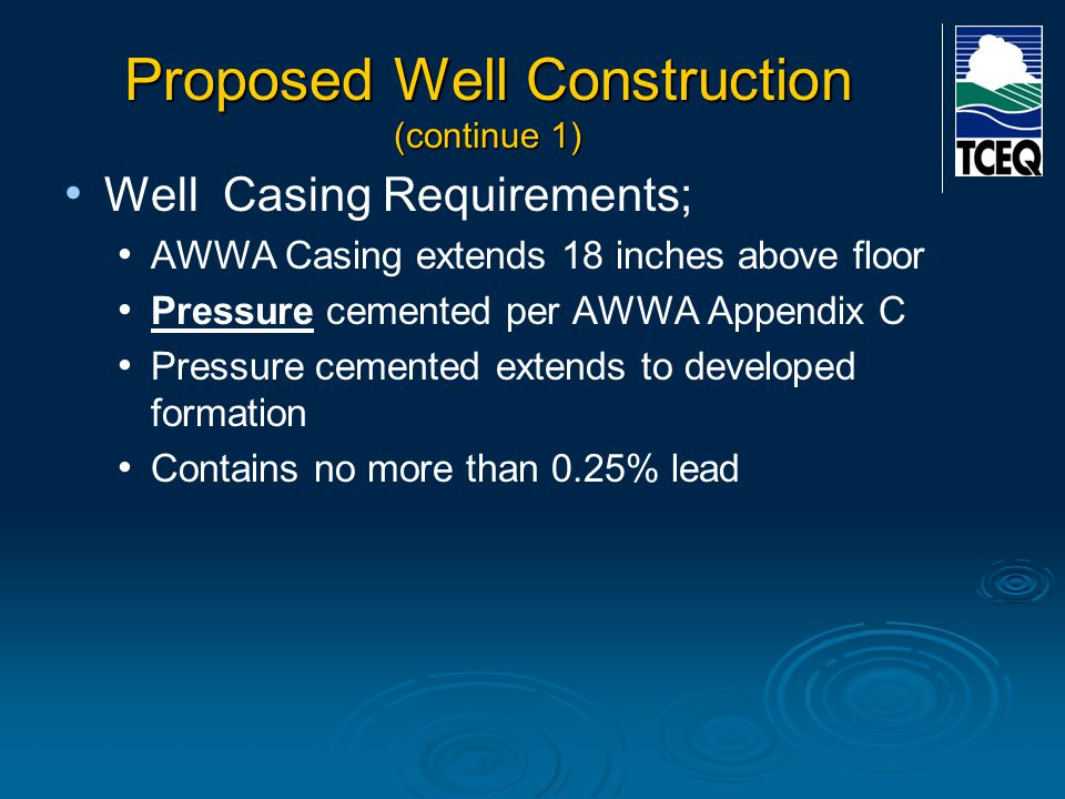 Proposed Well Construction (continue 1)