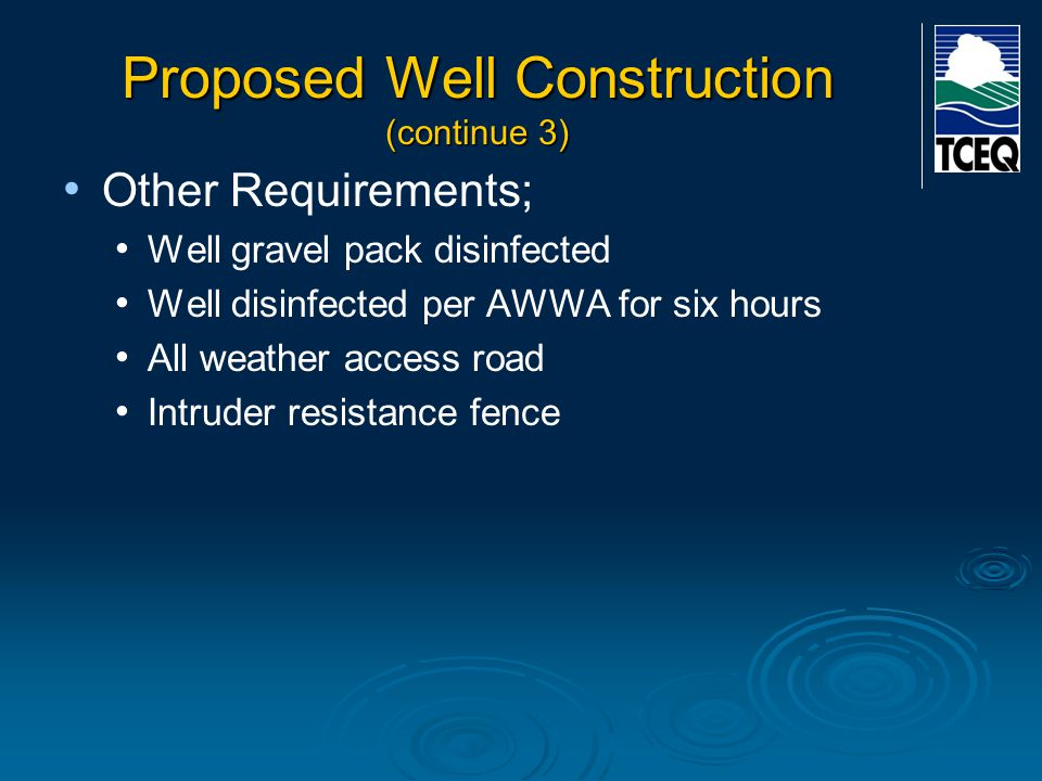 Proposed Well Construction (continue 3)