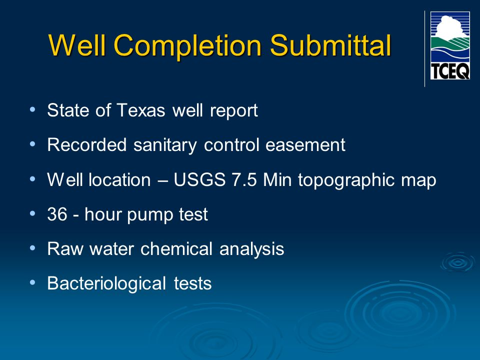 Well Completion Submittal