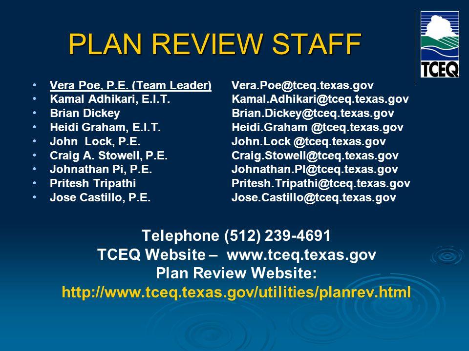 TCEQ Website – www.tceq.texas.gov