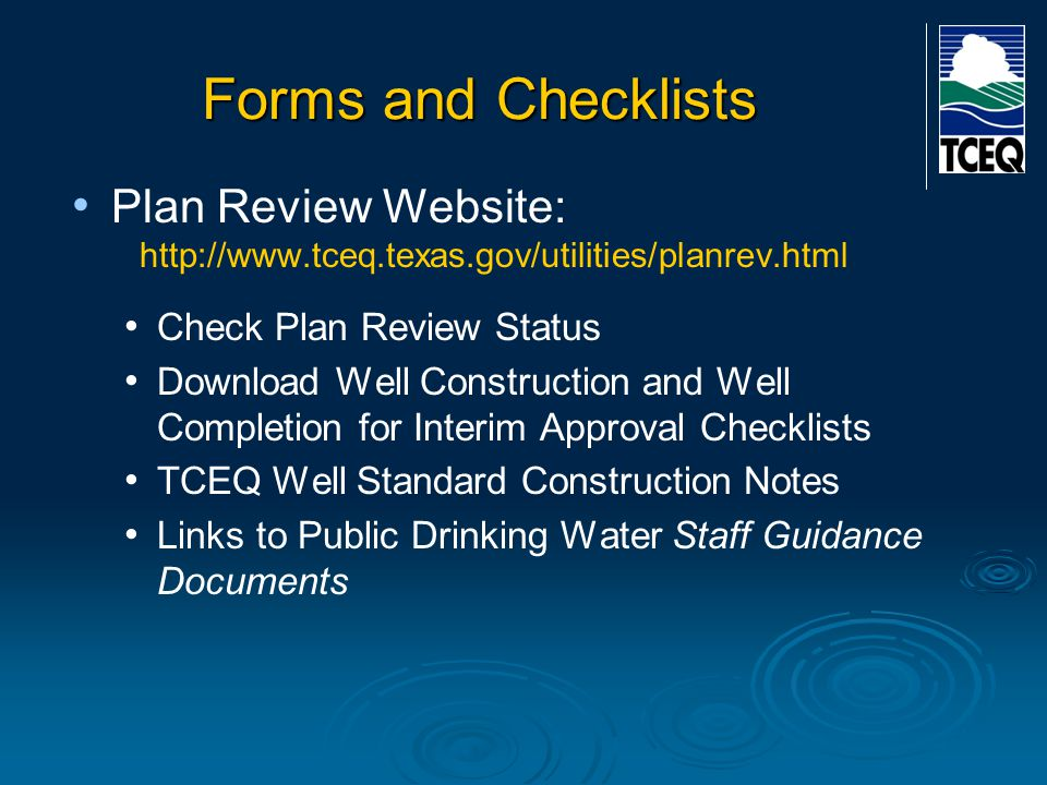 Forms and Checklists Plan Review Website: Check Plan Review Status