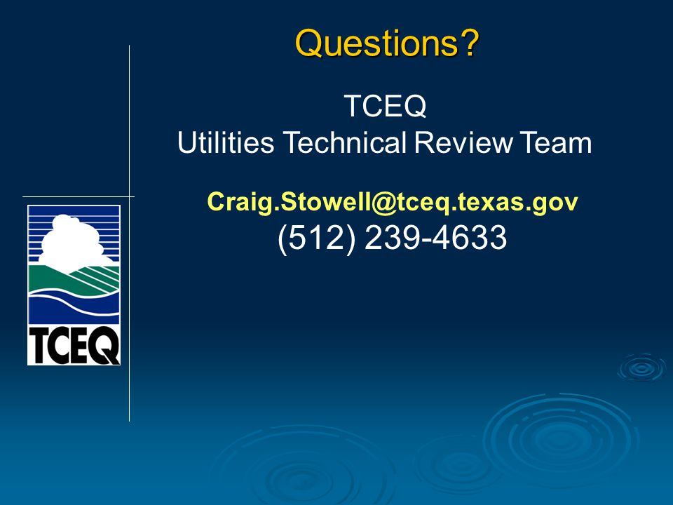Craig.Stowell@tceq.texas.gov (512) 239-4633