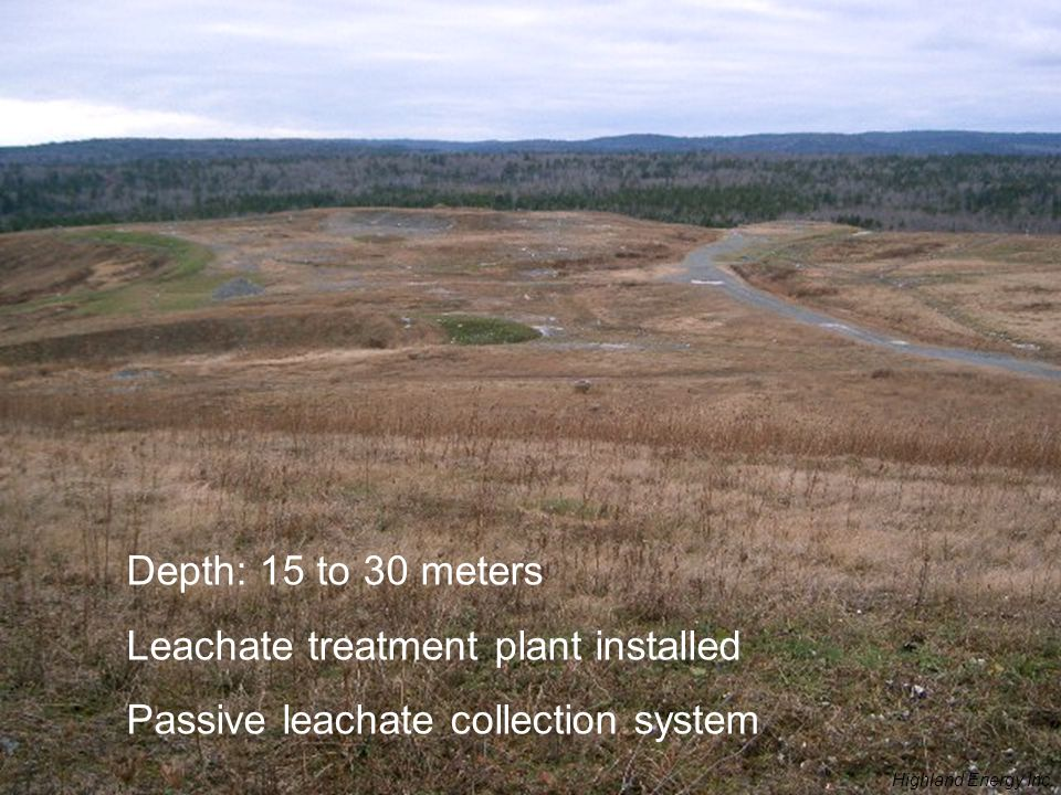 Leachate treatment plant installed Passive leachate collection system