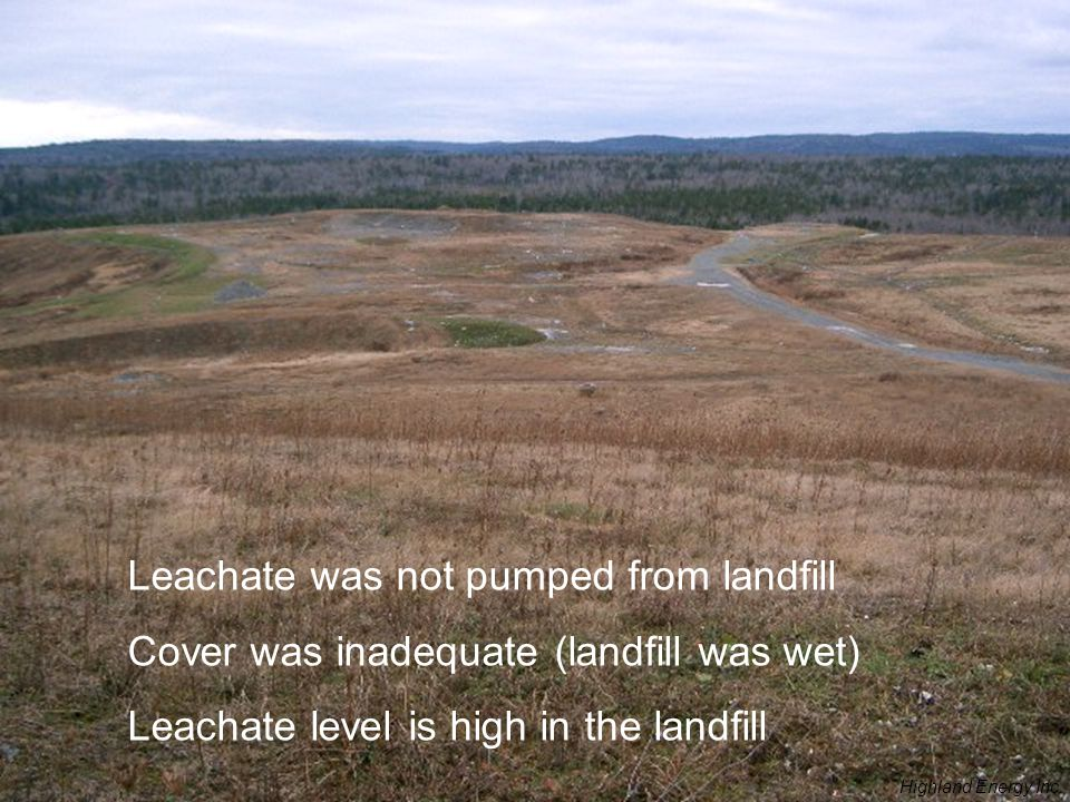 Leachate was not pumped from landfill
