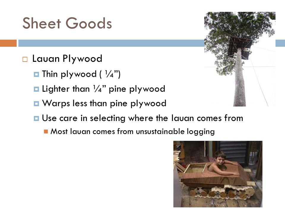 Sheet Goods Lauan Plywood Thin plywood ( ¼ )
