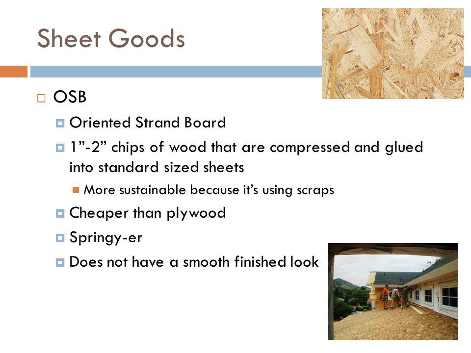 Sheet Goods OSB Oriented Strand Board