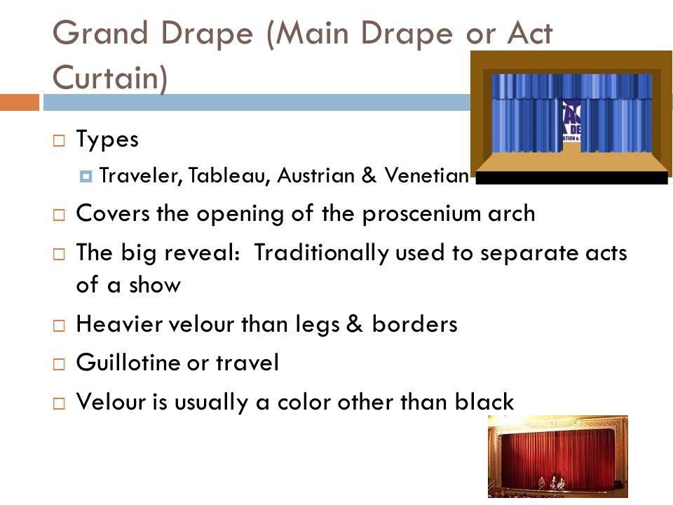 Grand Drape (Main Drape or Act Curtain)