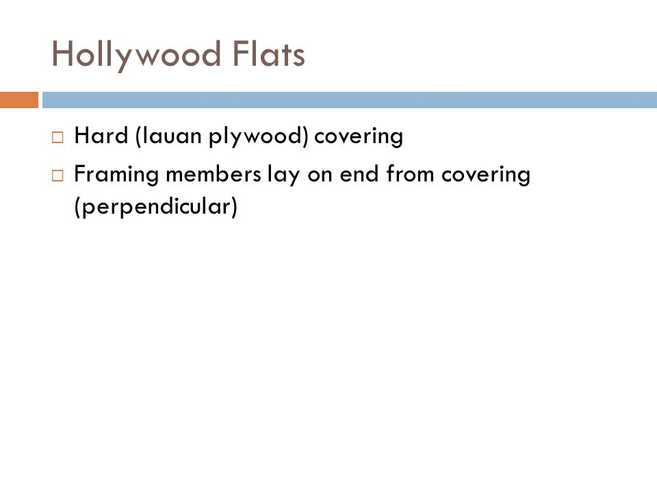 Hollywood Flats Hard (lauan plywood) covering