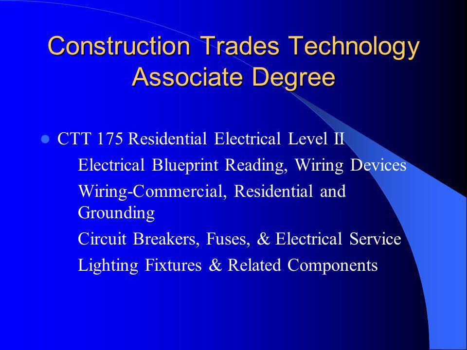 Construction Trades Technology Associate Degree