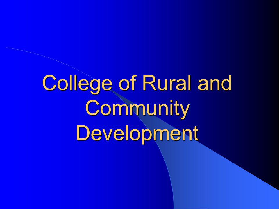 College of Rural and Community Development
