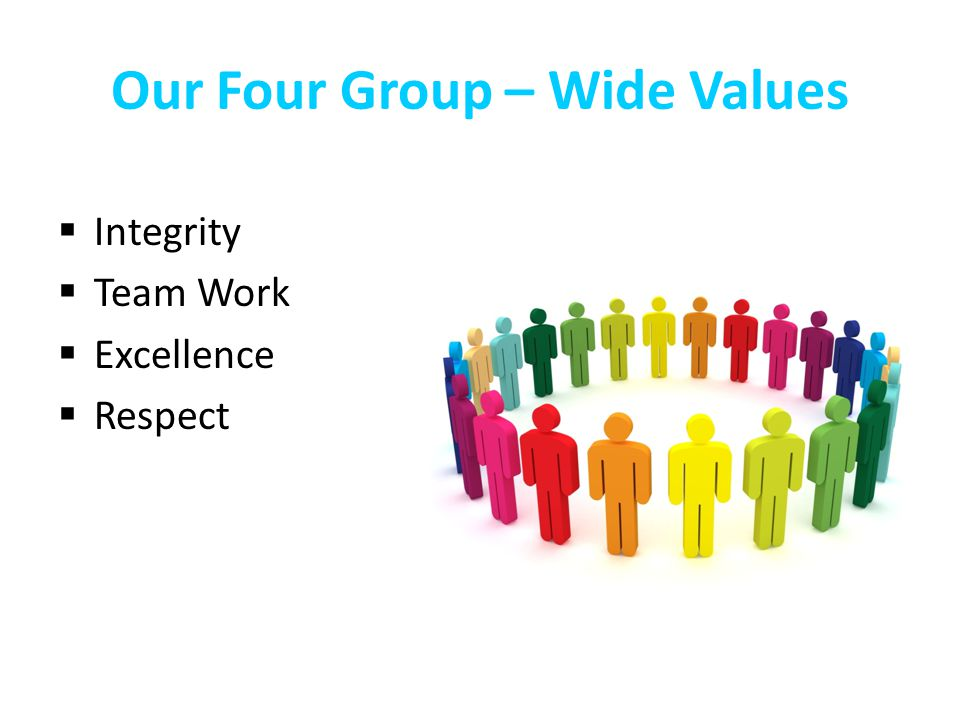 Our Four Group – Wide Values