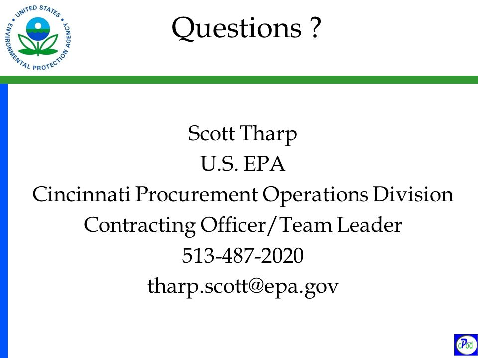 Questions . Scott Tharp U.S.