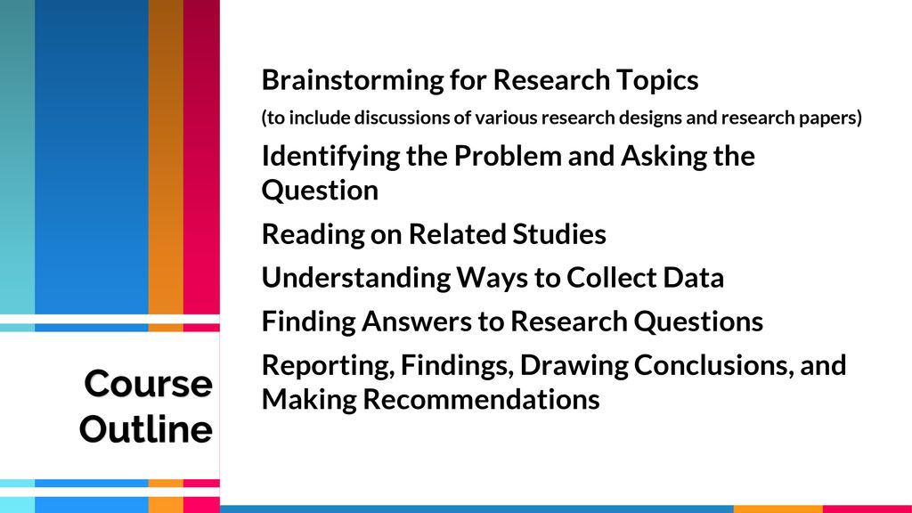 Course Outline Brainstorming for Research Topics