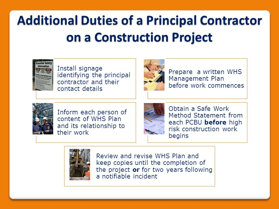 Additional Duties of a Principal Contractor on a Construction Project