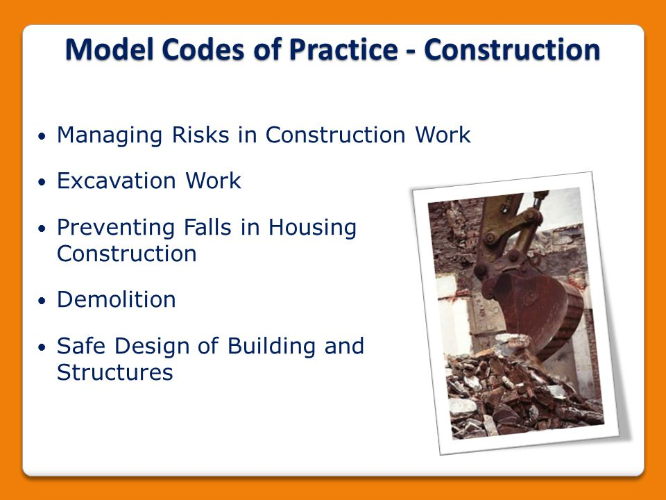 Model Codes of Practice - Construction