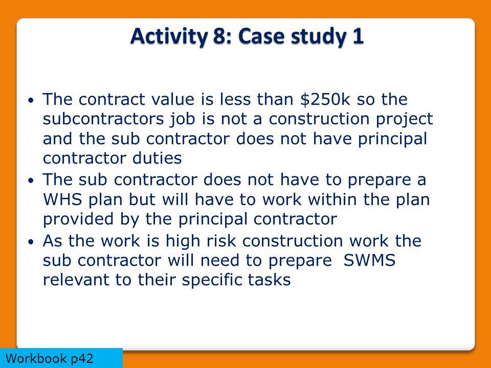Activity 8: Case study 1