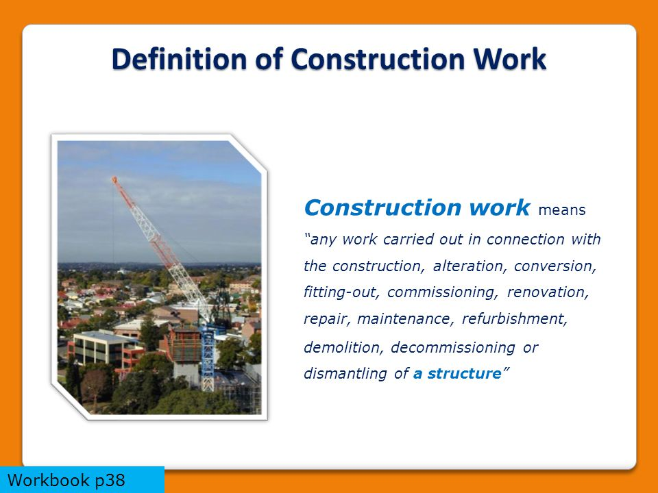 Trainers notes this package provides an overview of the for Definition construction
