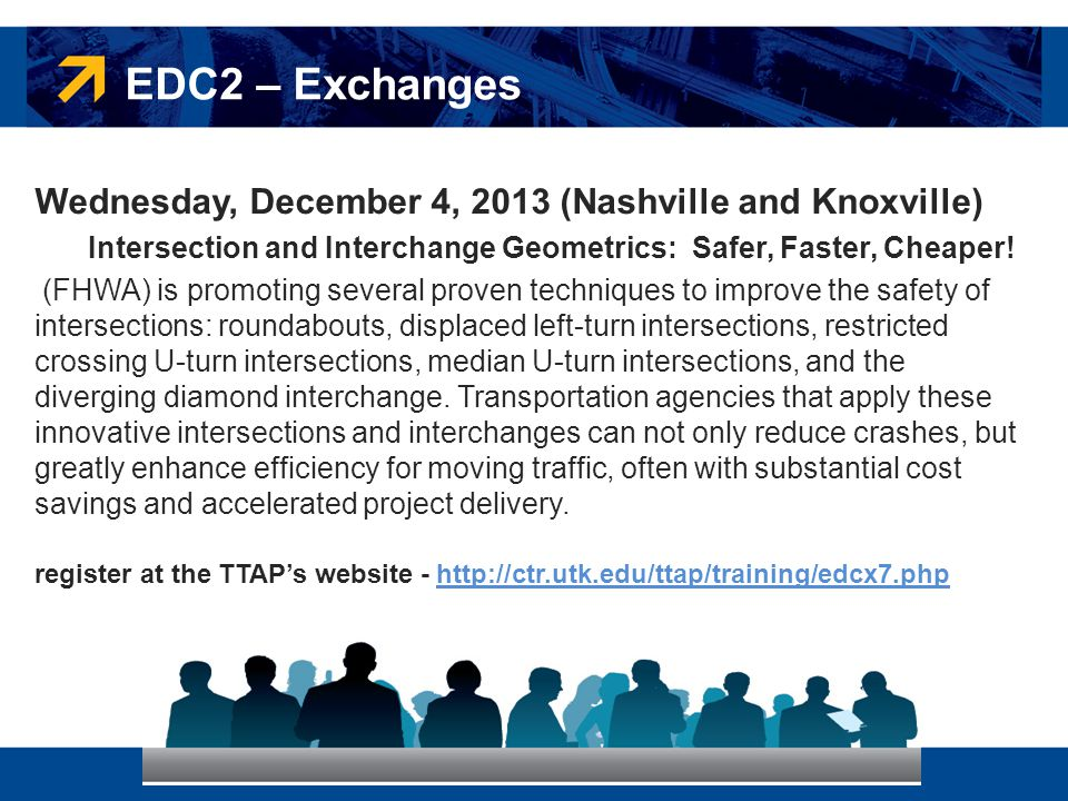 EDC2 – Exchanges Wednesday, December 4, 2013 (Nashville and Knoxville)