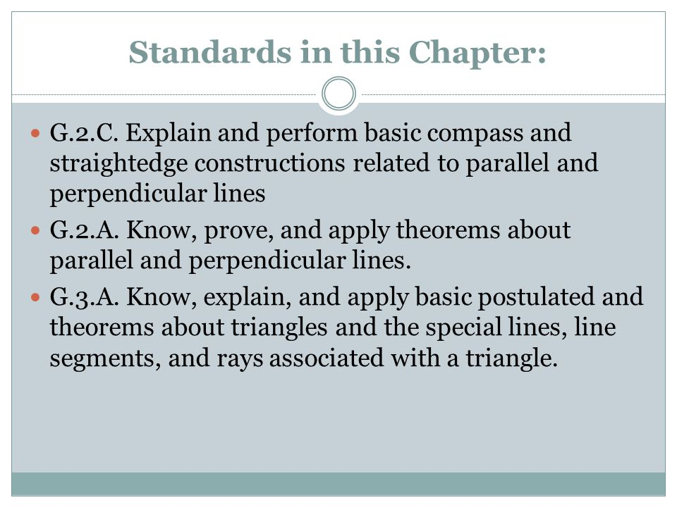 Standards in this Chapter: