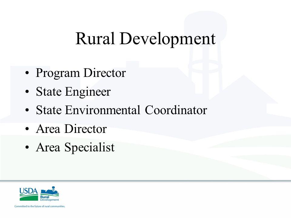 Rural Development Program Director State Engineer