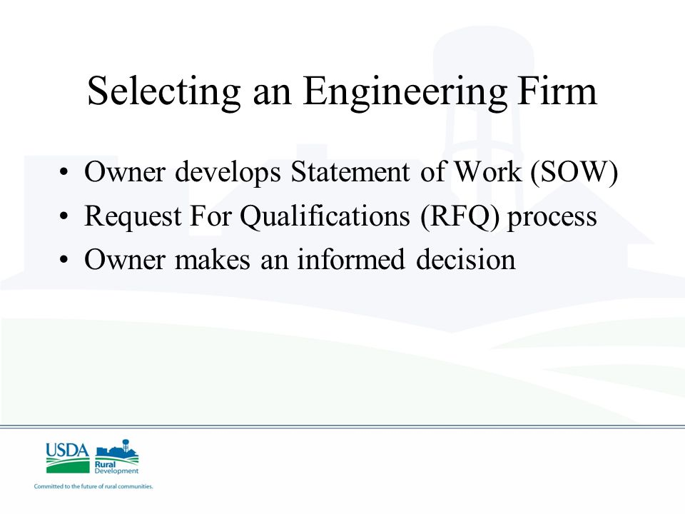 Selecting an Engineering Firm