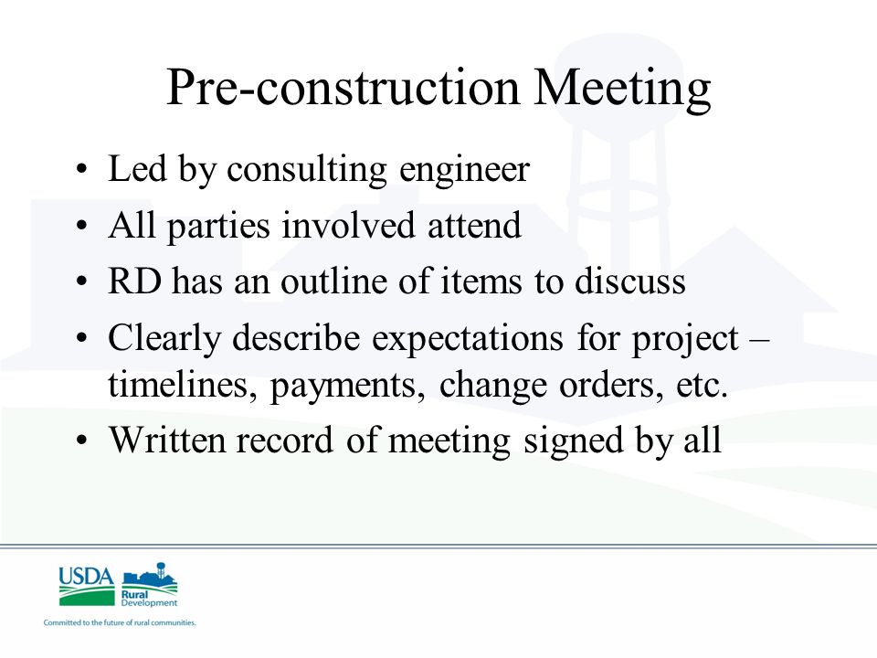 Pre-construction Meeting