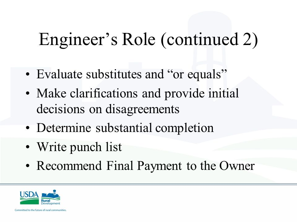 Engineer's Role (continued 2)