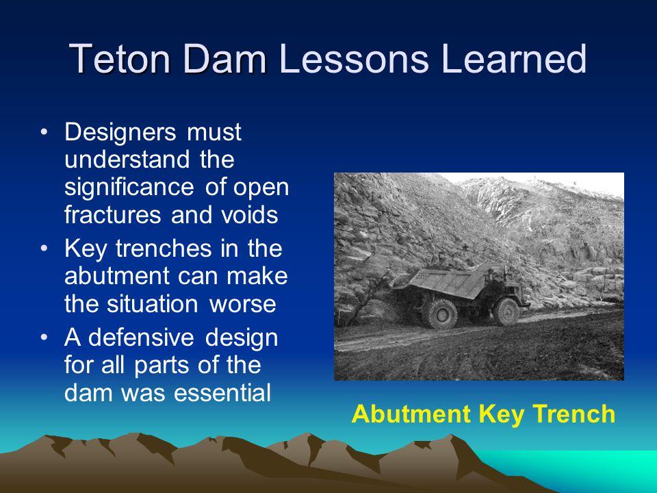 Teton Dam Lessons Learned