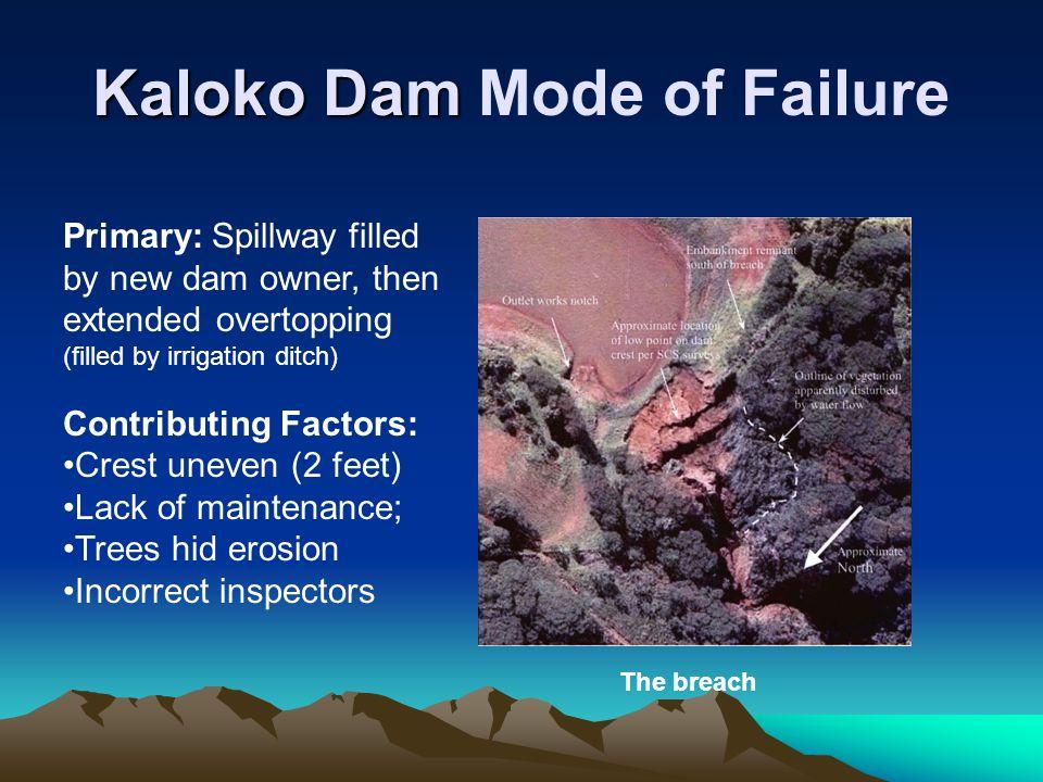 Kaloko Dam Mode of Failure