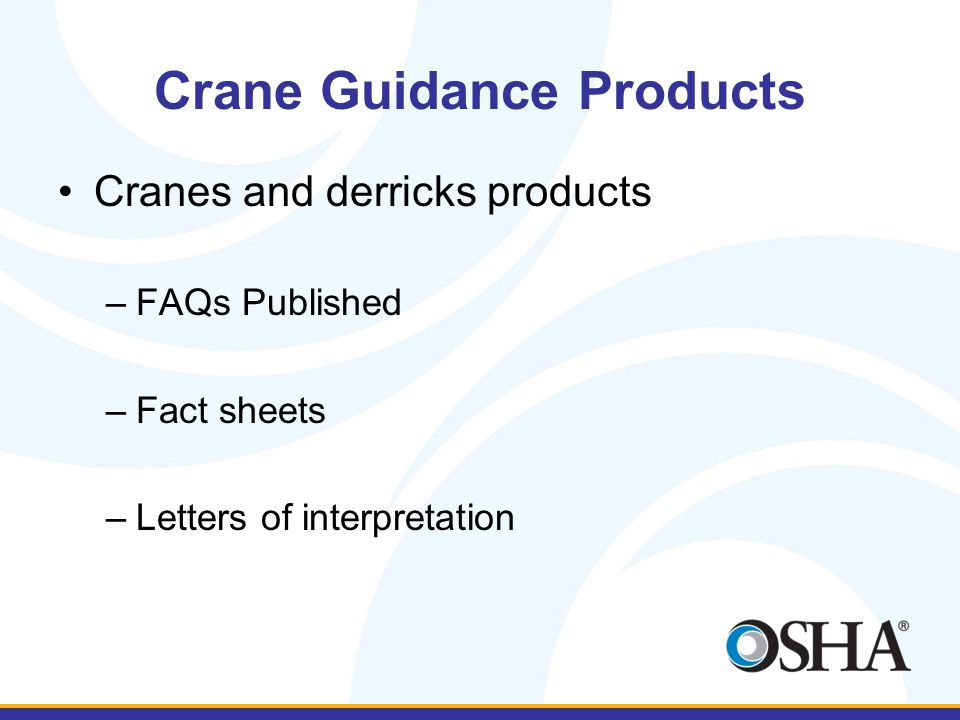 Crane Guidance Products