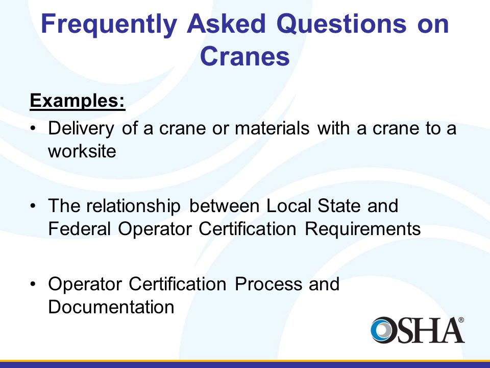 Frequently Asked Questions on Cranes