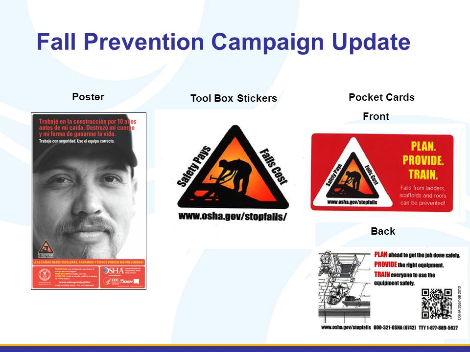 Fall Prevention Campaign Update