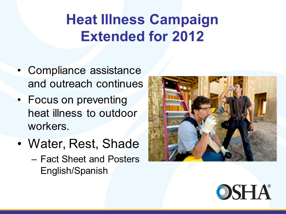 Heat Illness Campaign Extended for 2012