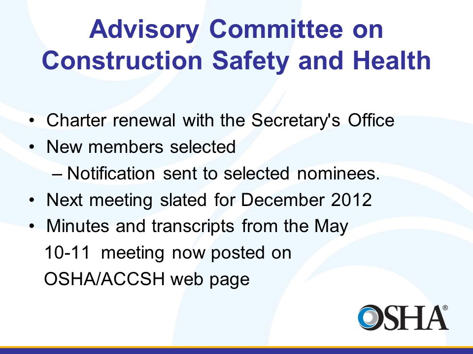 Advisory Committee on Construction Safety and Health