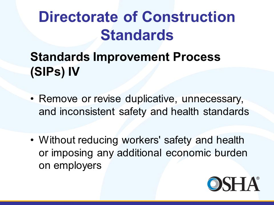 Directorate of Construction Standards