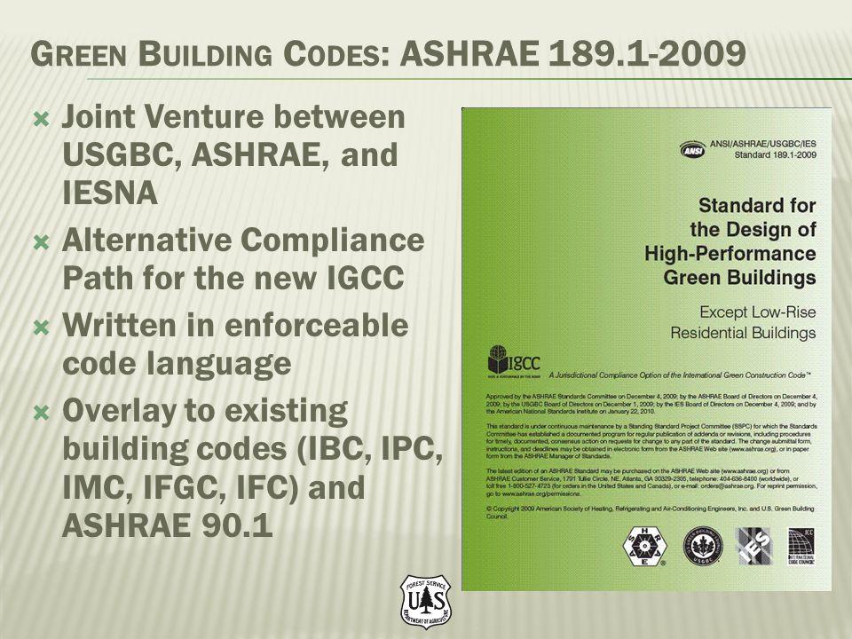 Green Building Codes: ASHRAE 189.1-2009