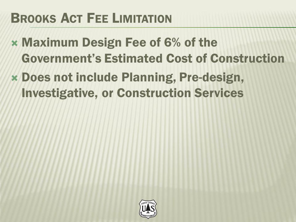Brooks Act Fee Limitation