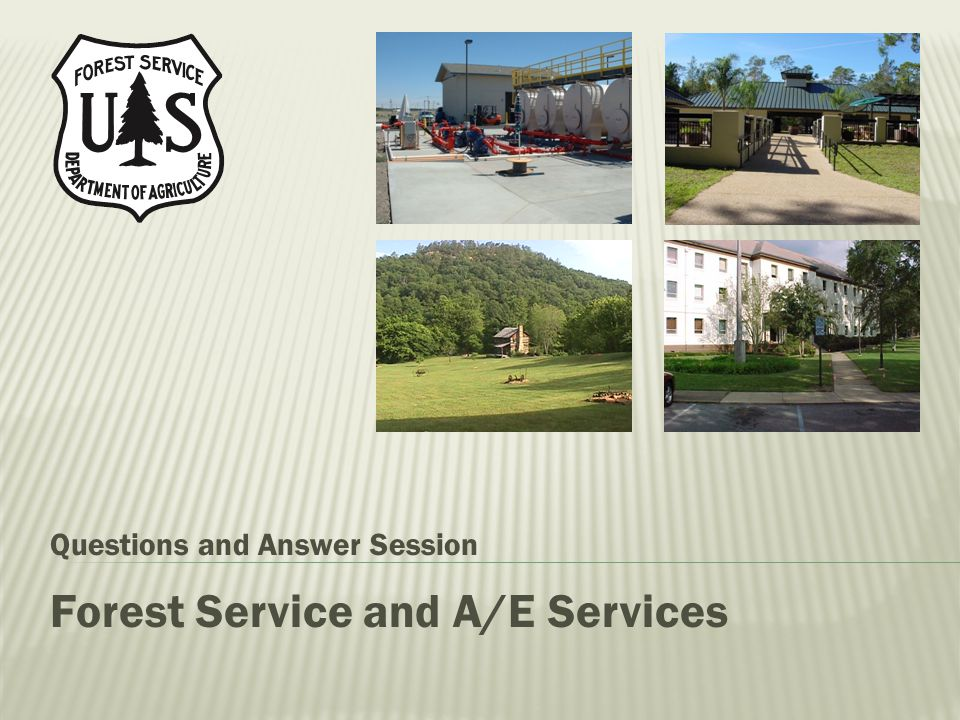 Forest Service and A/E Services